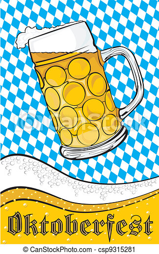 mug of beer - oktoberfest - csp9315281
