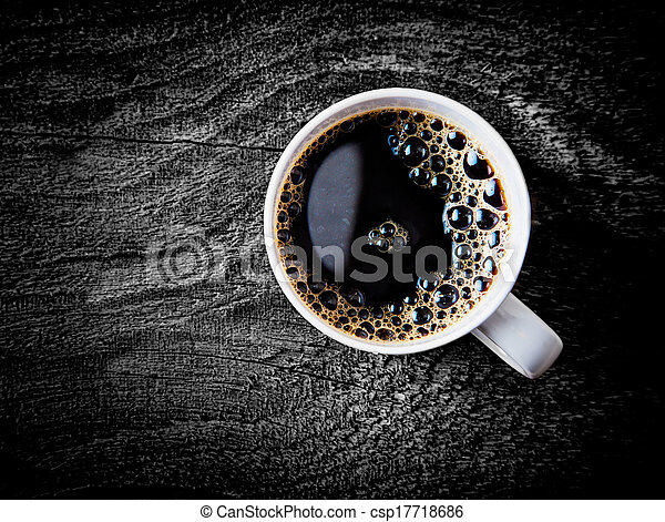 Mug of fresh full roast filter coffee - csp17718686
