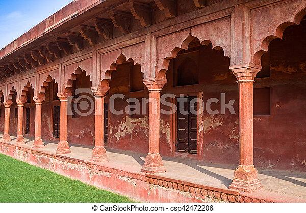mughal architecture agra india csp42472206