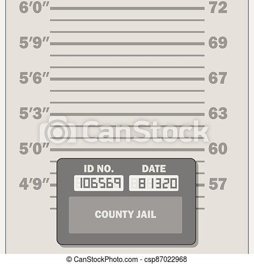 Mugshot measuring scale template - csp87022968