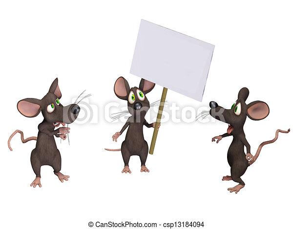 muis, vasthouden, meldingsbord - csp13184094