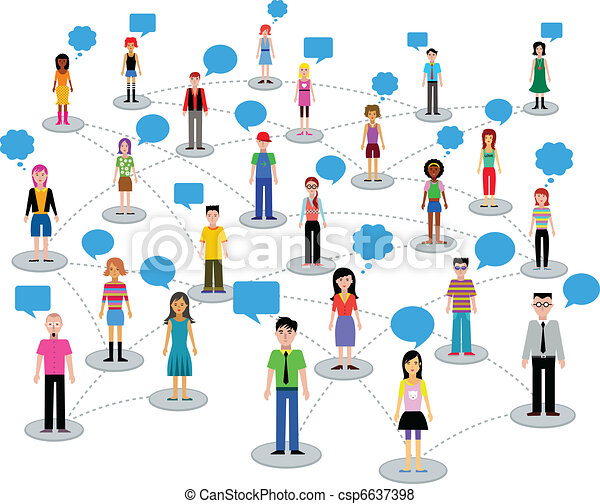 muitos, diferente, pessoas - csp6637398