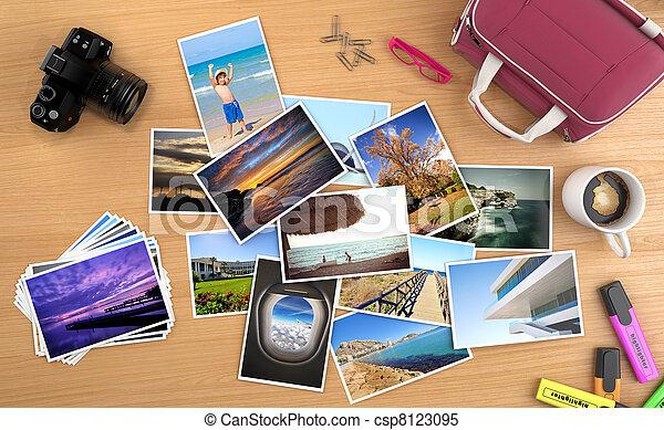 muitos, quadros, viagem, desktop - csp8123095