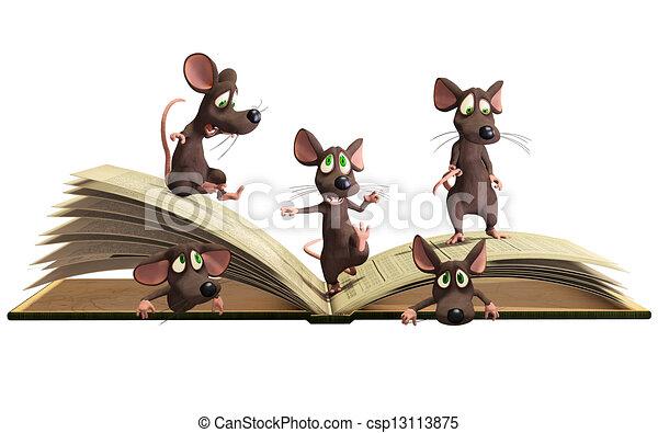 muizen, het boek van de lezing - csp13113875