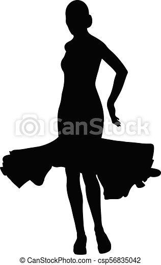 Mujer bailarina - csp56835042
