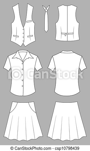 Cajera o ropa de vendedora - csp10798439