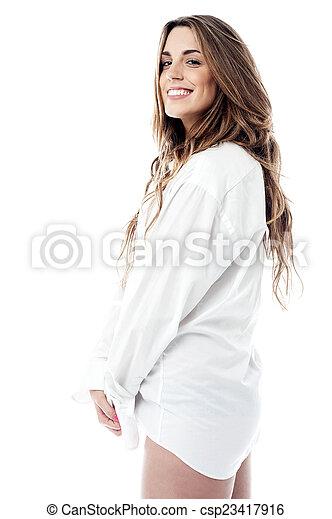 mitad de descuento b55e3 d03f6 mujer, camisa, sensual, hombre