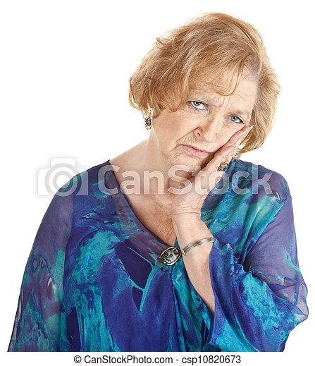 Una mujer mayor cansada - csp10820673
