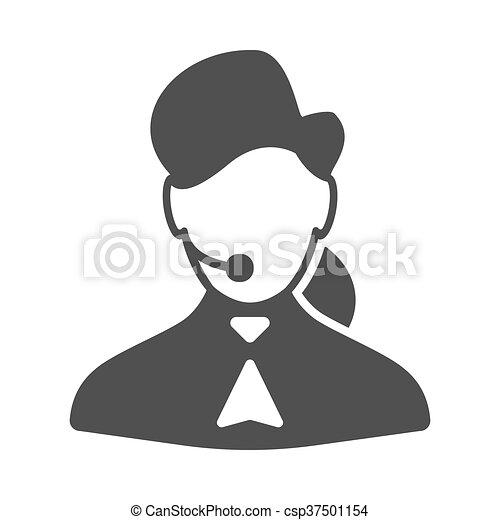 Llama al icono de la mujer central - csp37501154