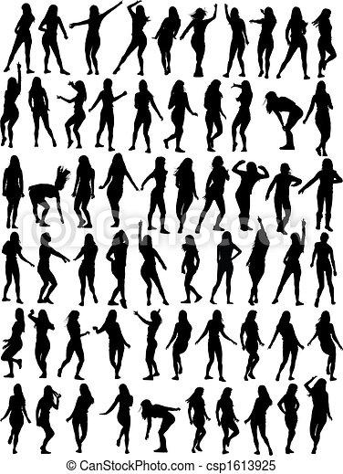 mujer, colección, bailando - csp1613925
