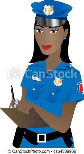 Mujer policía - csp4339966