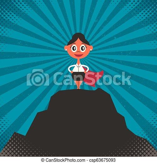 Ilustración de éxito de una mujer de negocios - csp63675093