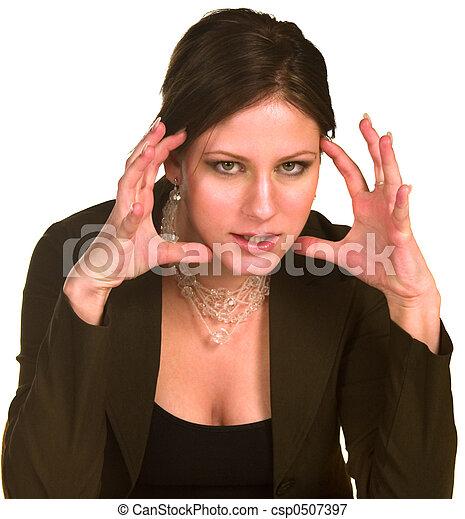 Mujer de negocios enojada - csp0507397