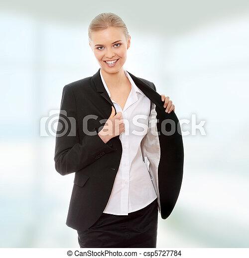 Feliz mujer de negocios - csp5727784