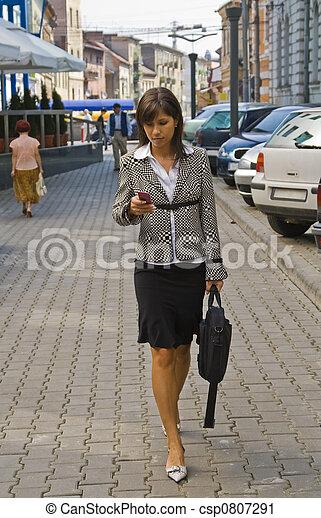 mujer de negocios - csp0807291