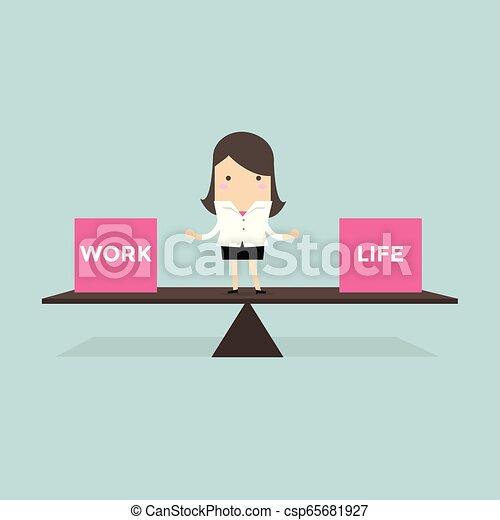 Empresariales, trabajo y vida. - csp65681927