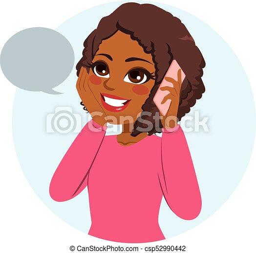 Teléfono femenino casual - csp52990442