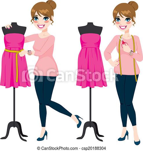 Una diseñadora de moda - csp20188304