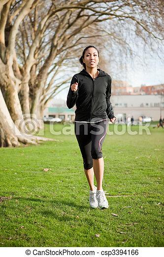 mujer, ejercicio - csp3394166