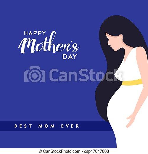 Una ilustración de mujeres embarazadas - csp47047803