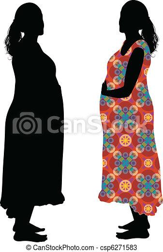 Mujer embarazada - csp6271583
