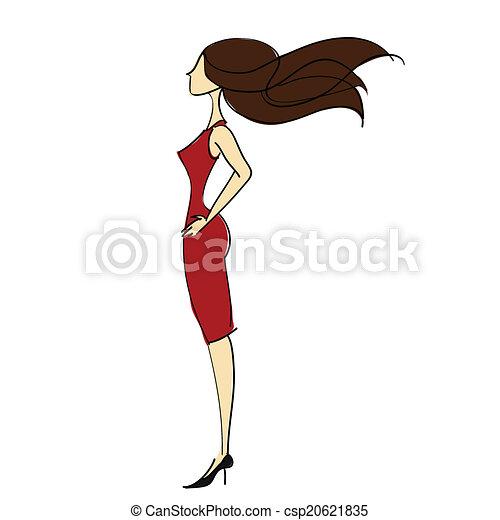 Mujer delgada - csp20621835