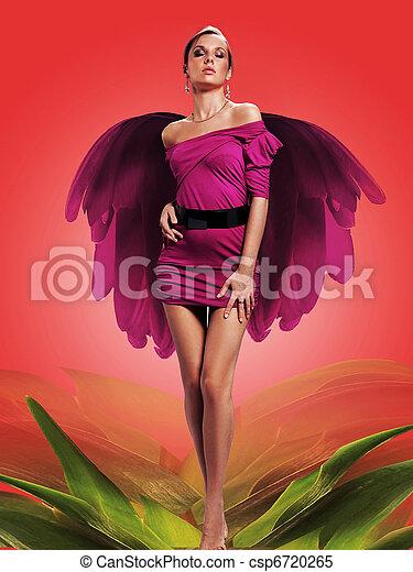 Mujer de las flores - csp6720265