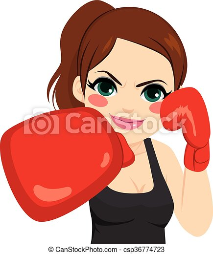 mujer guantes boxeo mujer boxeo lucha guantes deporte rojo