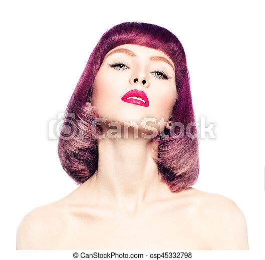 Mujer Hairstyle Colorido Hair Sexy Mover Moda