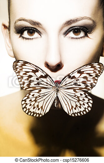 mujer hermosa - csp15276606