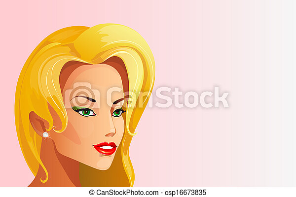mujer hermosa - csp16673835