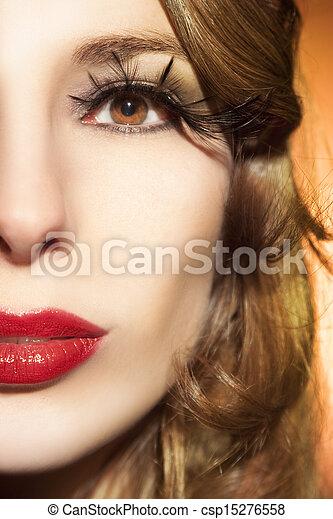 mujer hermosa - csp15276558