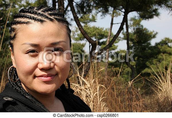 mujer hermosa, asiático - csp0266801