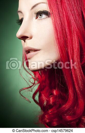 mujer hermosa - csp14579624