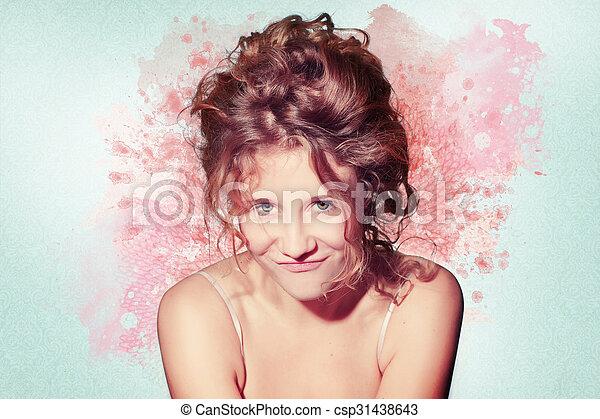 mujer hermosa, ilustraciones - csp31438643