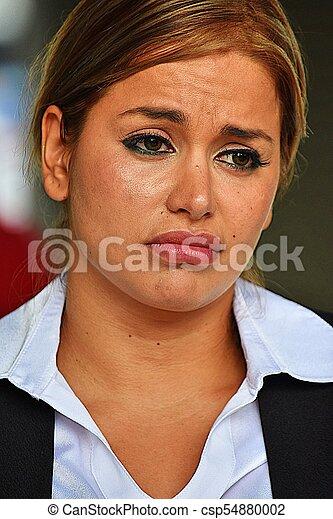 Mujer de negocios infeliz y hermosa - csp54880002