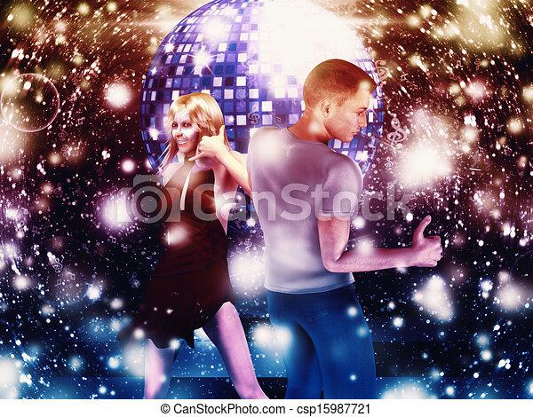 Hombre y mujer bailando - csp15987721