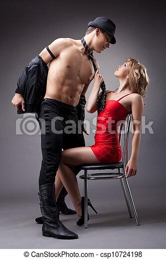 Perfecto dama strip tease