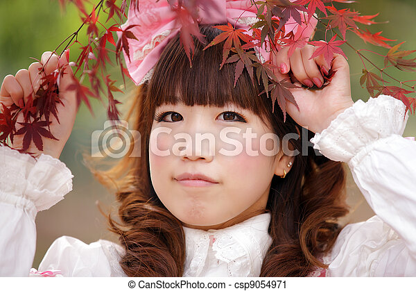 Mujer japonesa - csp9054971