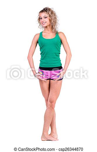 Mujer joven en forma - csp26344870