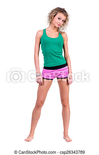 Mujer joven en forma - csp26343789