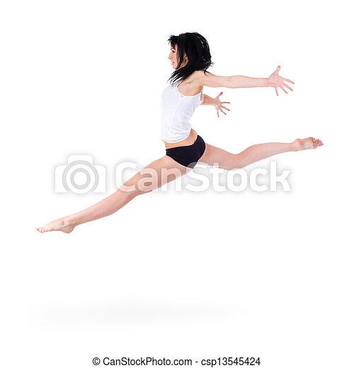 Joven en forma saltando - csp13545424