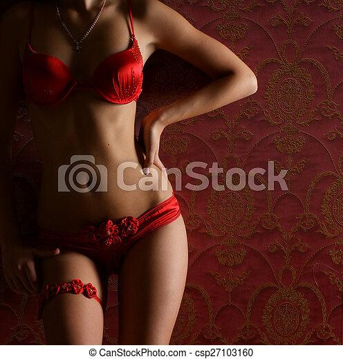 Cuerpo sexy de una mujer joven - csp27103160