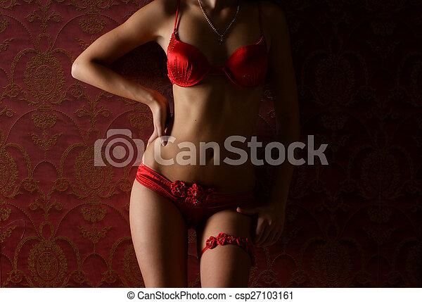 Cuerpo sexy de una mujer joven - csp27103161