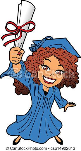 Una joven graduación - csp14902813