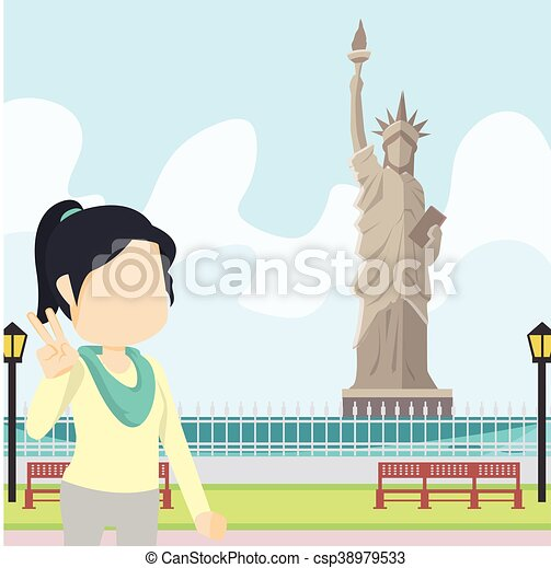 Mujer en libertad - csp38979533