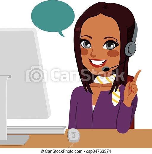 Llama a la mujer india - csp34763374