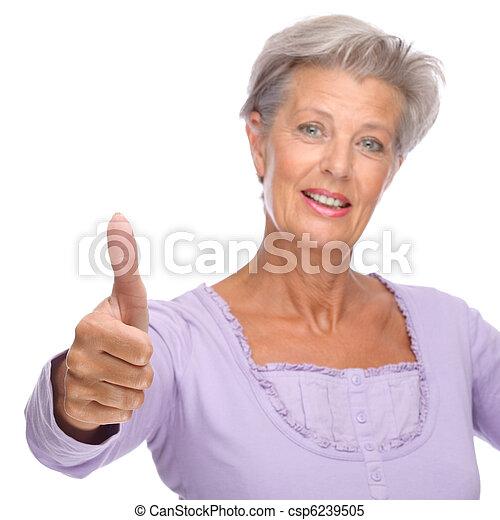 Mujer mayor - csp6239505
