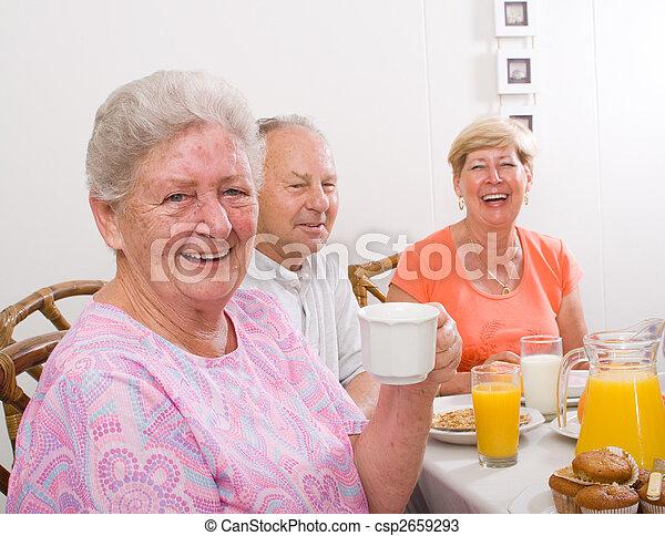 Feliz anciana - csp2659293