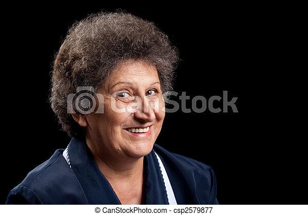 Feliz anciana - csp2579877